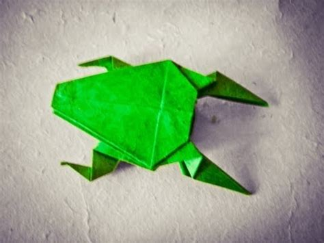 Cool Easy Origami - how to make an easy origami frog hd