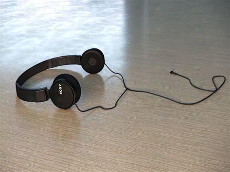 Headphone Sony Mdr Zx110ap 3d Model Headphones Sony Mdr Zx110ap