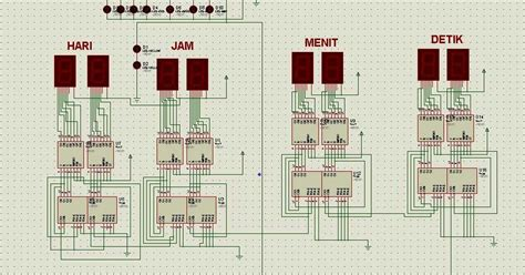 komponen membuat jam digital membuat rangkaian jam digital sederhana yusuf adi khurniawan