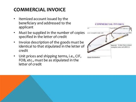 Invoice In Letter Of Credit Letter Of Credit