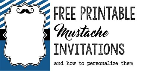 mustache birthday card template invitation templates free printables paper trail