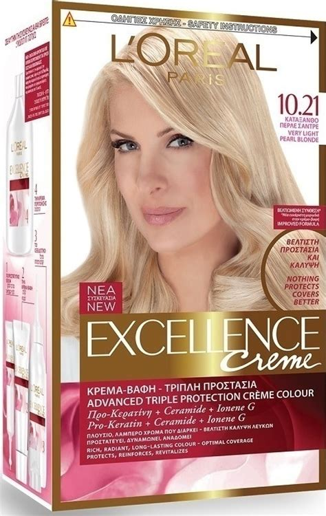 l oreal inoa no 5 3 with 6 20vol inoa deeveloper permanent hair color brown light golden 60 gm l oreal excellence no 10 21 κατάξανθο περλέ σαντρέ skroutz gr
