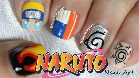 naruto nail art tutorial naruto nail art youtube