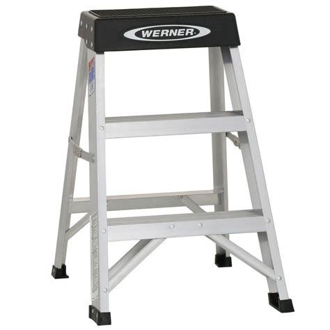5 Ft Step Stool by Werner 2 Ft Aluminum Step Ladder With 300 Lb Load