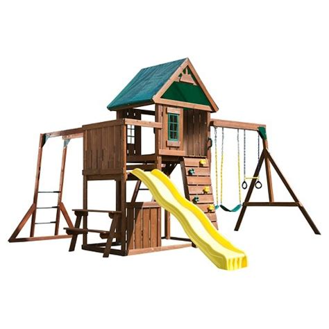 target wooden swing set swing n slide chesapeake wooden play set kit target