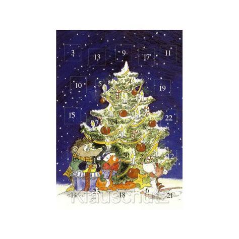 weihnachtskarte advent unterm weihnachtsbaum