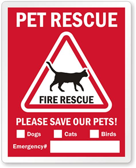 Save My Pet Sticker Free Canada rescue label pets alert window decal with cat