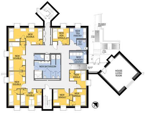 college dorm floor plans haffner residence hall complex richard w thom aia