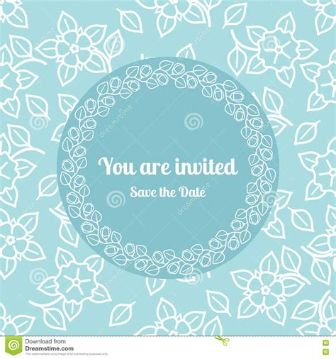 you are invited card template you are invited wedding floral card template stock vector