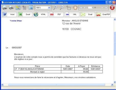 Exemple De Lettre Facture Modele Lettre De 2eme Rappel Document