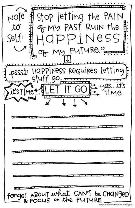 printable happiness journal quot long story short happiness requires letting things go