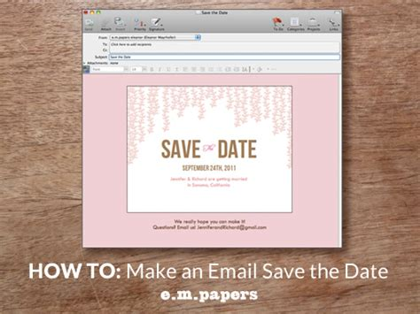 business save the date email template diy wedding save the date email how to