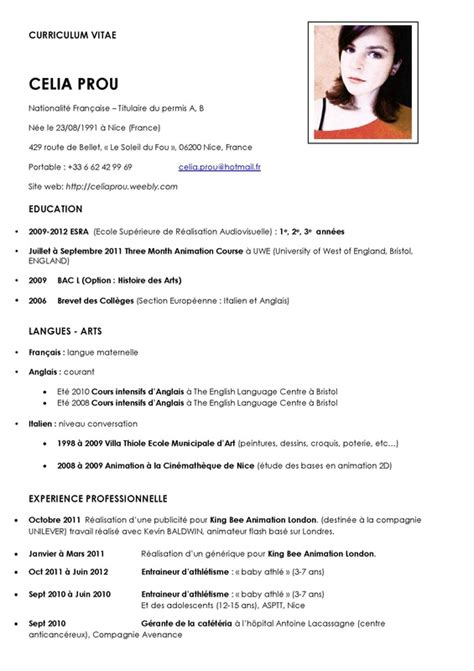 Sample Resume Abroad by Mon Curriculum Vitae Fran 231 Ais Shorts Images Pictures