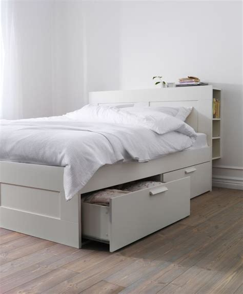 The Bed Storage by Brimnes Bed Frame With Storage White Beds With
