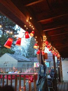 christmas lights with plastic cups garland