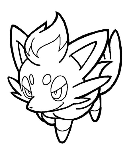 pokemon coloring pages zorua zorua lineart by yumezaka on deviantart