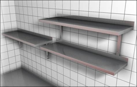 stainless steel shelving wall wall shelves commercial wall shelves commercial wall