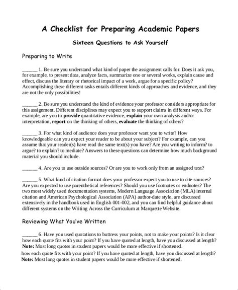 Format Of An Academic Essay by Sle Paper 41 Exles In Word Pdf