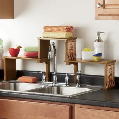 over the sink shelf over the kitchen sink shelf clever crafts pinterest