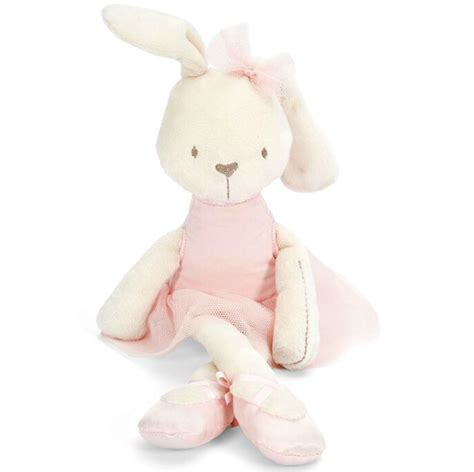 1pc 45cm rabbit with pink dress baby plush soft ballet bunny rabbit doll comfort