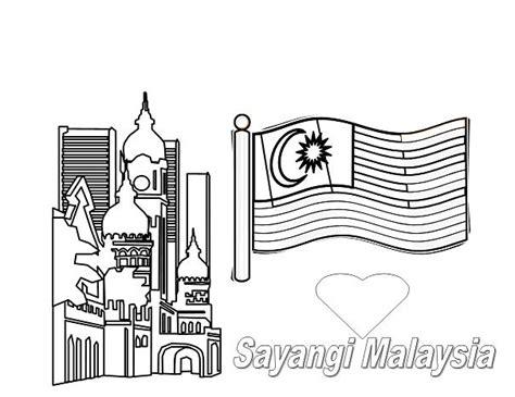 gambar contoh poster hari kemerdekaan gambar mewarna sayangi malaysia sop name my