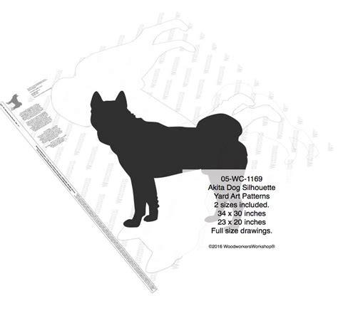akita pattern review akita dog silhouette yard art woodworking pattern 2 sizes