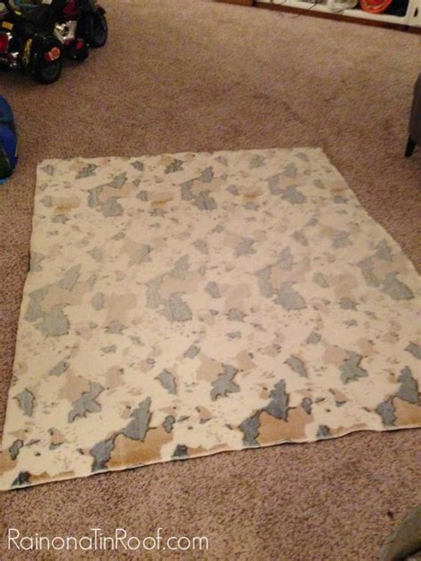 diy cowhide rug for only 15 and no painting required