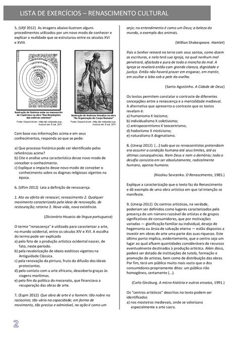 História+Renascimento+Cultural+exercícios+questoes+com