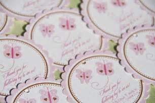 Labels For Favors by Pink Butterfly Favor Tags Butterflies Baby By