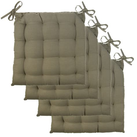 Cotton Tufted Chair Pads With Ties » Home Design 2017