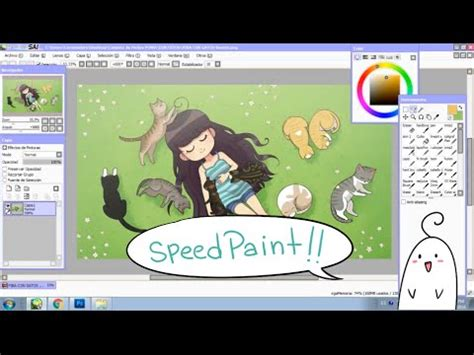paint tool sai seguro speed paint 10 gatos meri
