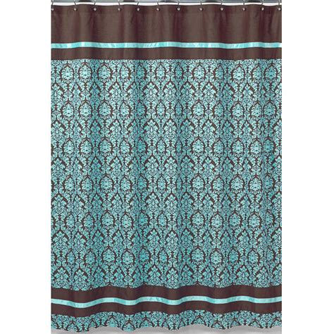 blue and brown shower curtain blue fabric shower curtains curtains blinds