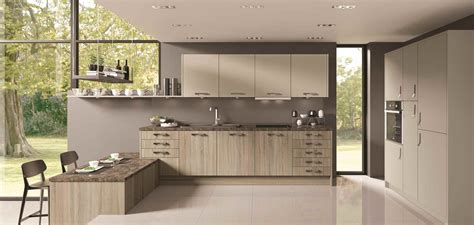 Tempo Kitchen by Tempo Grey Bardolino Oak With Grey