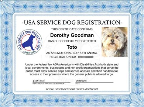 Emotional Support Animal Id Package Includes Id Card Tag Digital Ce Usa Service Animal Emotional Support Animal Id Card Template
