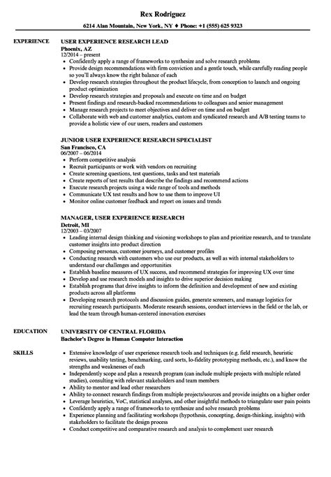 User Experience Researcher Sle Resume by User Experience Researcher Sle Resume Placement Counselor Cover Letter The Great Gatsby