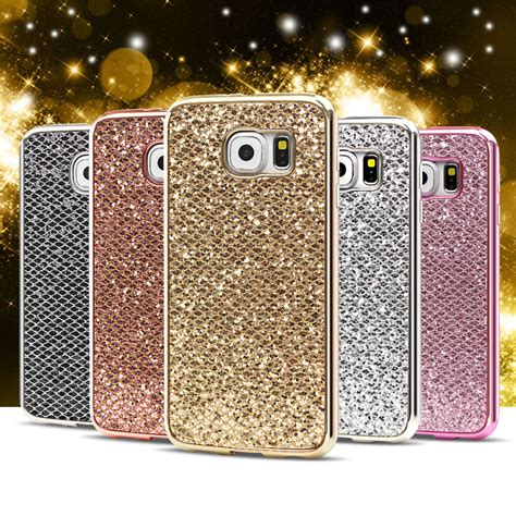 Casing Glitter Samsung S6 Edge Plus S6 Edge clespruce glitter sequins for samsung galaxy s6 s7