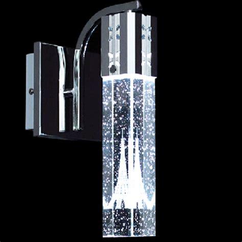 led light bubble wall 3w led eiffel tower wall light single head bubble crystal