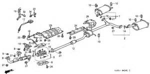 2001 Honda Accord Exhaust System Parts 2000 Honda Accord Exhaust Auto Parts Diagrams