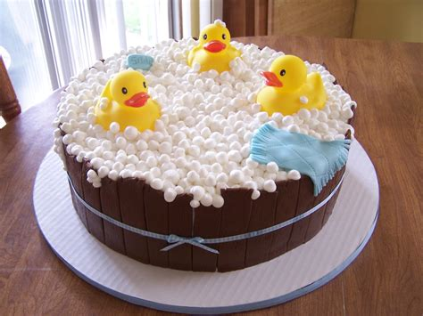 Duck Rubber Ducky Baby Shower Cakes by Edee S Custom Cakes Boy Rubber Ducky Baby Shower