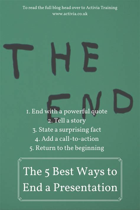 The 5 Best Ways to End a Presentation   Presentation Tips