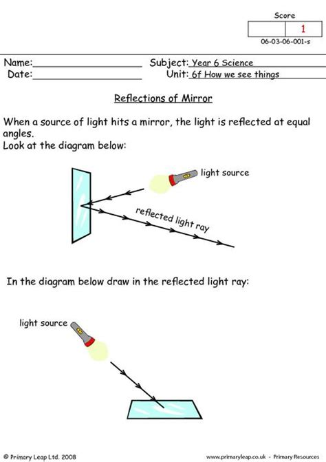 Reflection Worksheet Answers by Mirror Reflections Primaryleap Co Uk