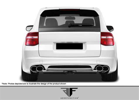porsche widebody rear 2008 2010 porsche cayenne af 1 wide body rear bumper cover