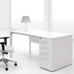 White Office Table White Computer Desk With Drawers