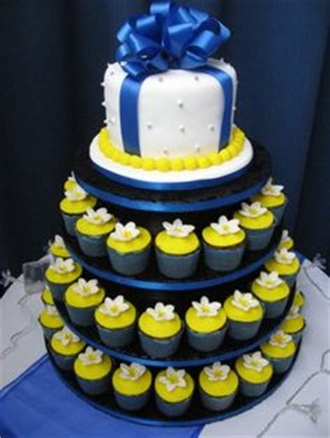 blue and yellow wedding cupcakes 1000 images about wedding cupcake displays on