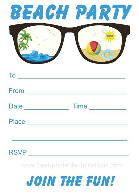 25 best ideas about beach party invitations on pinterest