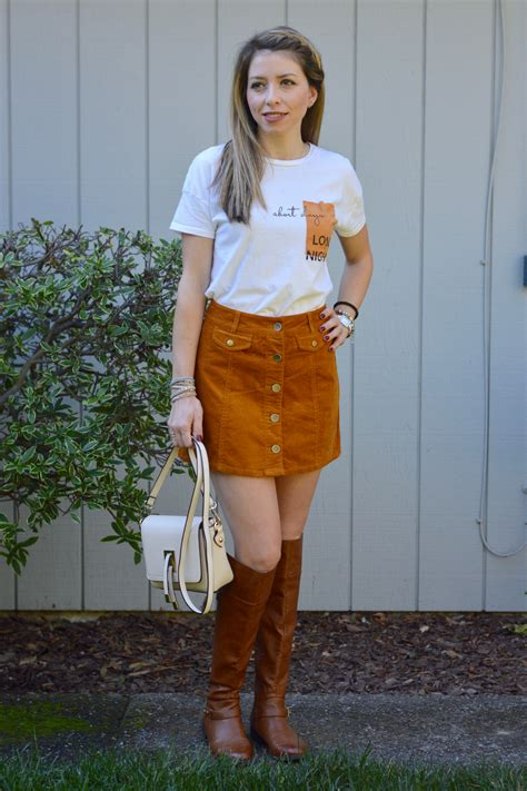Button Front Mini Skirt button front corduroy mini skirt idea
