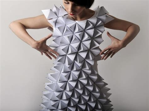 Eco Fashion Research Paper by Sarajevo Artist Creates Math Inspired Origami Dresses From Paper Textiles Ecouterre