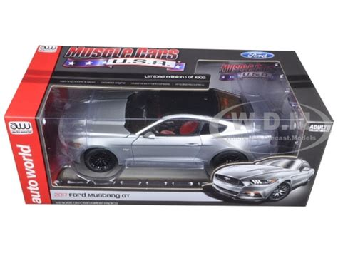 2017 Ford Mustang Gt 5 0 Silver Limited 1002pc 1 18 Model Car By Autow 2017 ford mustang gt 5 0 silver limited 1002pc 1 18 model
