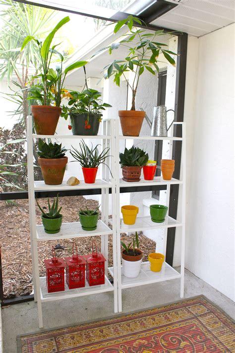 Patio Plant Shelves by Outdoor Lerberg Shelves Interieur Inspiratie