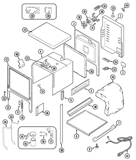 jenn air parts diagram jenn air sve47600 electric slide in range timer stove